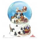 Bola de neve comboio de Natal