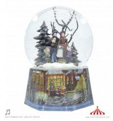 Família inverno - bola de neve