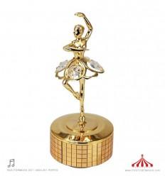 Bailarina Swarovski Dourada