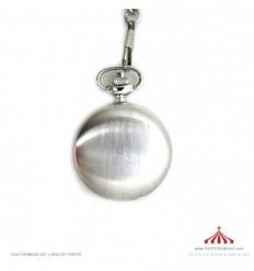 Relógio metalizado acetinado