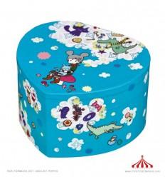 Caixa coração azul Ange Lapin