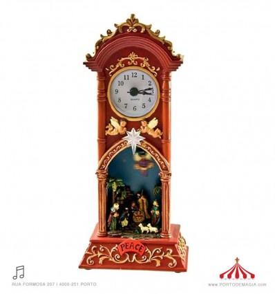 Relógio com uma cena de Presépio
