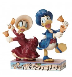 Chiming In (Victorian Donald & Daisy Duck Figurine)