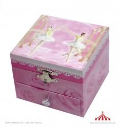 Guarda Jóias rosa 2 bailarinas brancas