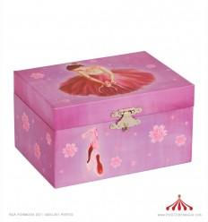 Caixa de Música - bailarina rosa