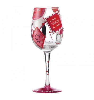 Who Needs a Man Wine Glass