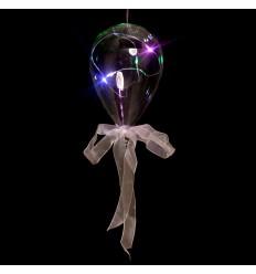 Balão de Vidro Transparente com LED