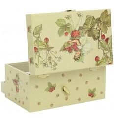 Caixa de Jóias Fada Morango Flor