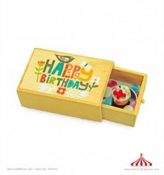 Caixa Madeira Happy Birthday
