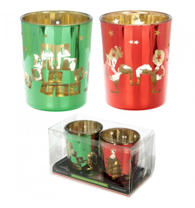 Set Porta Velas Natal