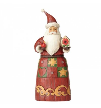 Folklore Santa With Bird House