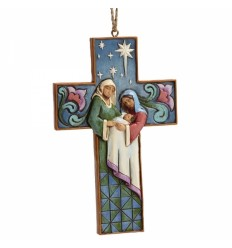 Holy Family Cross Ornament