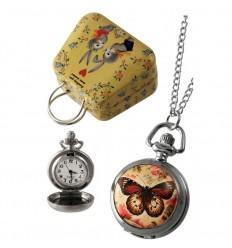 Relógio de Colar Borboleta