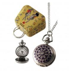 Relógio Colar Estrela Roxo