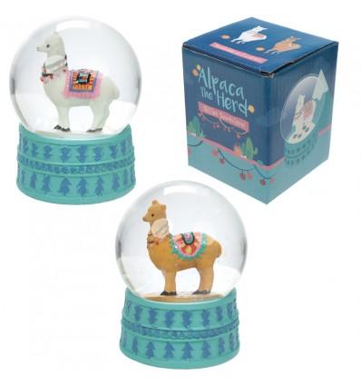 Globe with alpaca