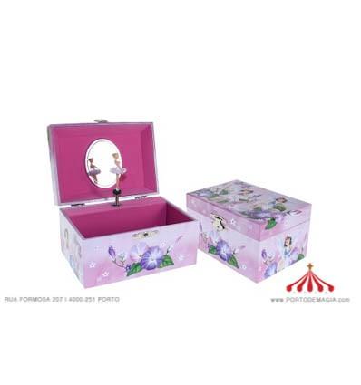 Pink Jewel Box with Purple Fairies