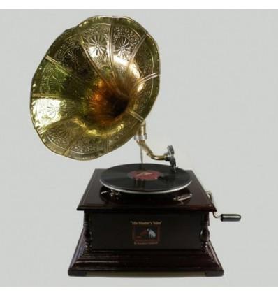 Gramofone Grande Metal / Madeira