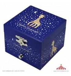 Caixa de Música Fotoluminescente Girafa Sofia (Via Láctea)