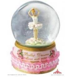 Bola de neve com bailarina