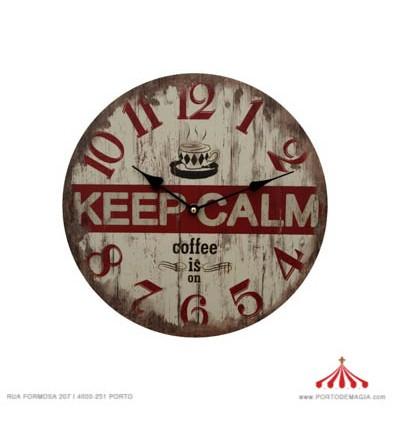 Relógio Keep Calm
